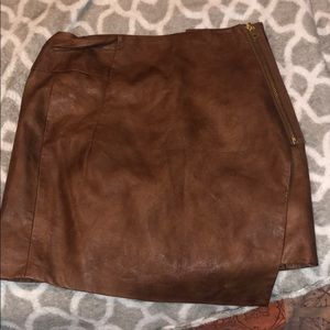 Beautiful never worn leather wrap skirt!